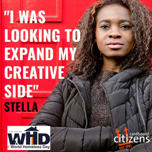 World Homelessness Day graphic featuring Citz Member Stella