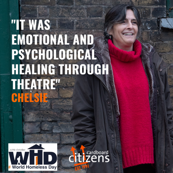 World Homelessness Day graphic featuring Citz Member Chelsie