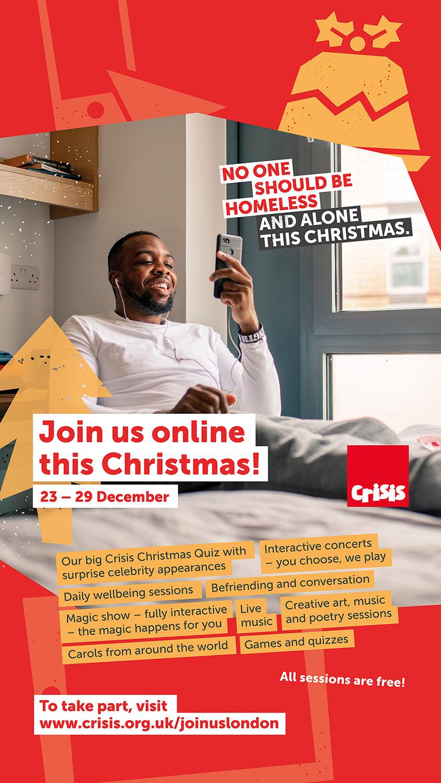 Crisis Christmas 2020 Online Events Web